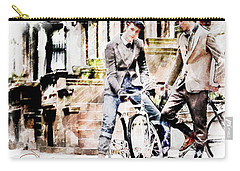 Men On Bikes Carry-all Pouch