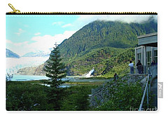 Carry-all Pouch featuring the photograph Mendenhall Glacier View From Center by Janette Boyd