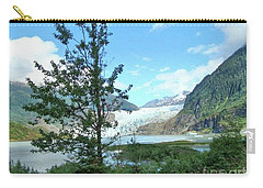 Carry-all Pouch featuring the photograph Mendenhall Glacier View From Path by Janette Boyd
