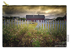 Carry-all Pouch featuring the photograph Mendocino Red Barn by Craig J Satterlee