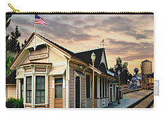 Menlo Park Station Carry-all Pouch by Ron Chambers