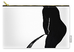 Mens Room Sign Silhouette Carry-all Pouch by Sally Weigand