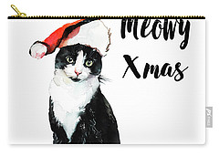 Carry-all Pouch featuring the painting Meowy Xmas by Colleen Taylor