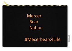 Carry-all Pouch featuring the photograph Mercer Bear Nation by Aaron Martens