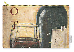 Merlot Wine And Grapes Carry-all Pouch by Debbie DeWitt