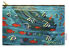 Mermaid In Paradise Towel Version Carry-all Pouch