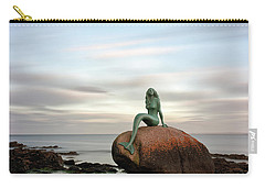 Carry-all Pouch featuring the photograph Mermaid Of The North East by Grant Glendinning