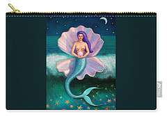 Carry-all Pouch featuring the painting Mermaid's Pearl by Sue Halstenberg