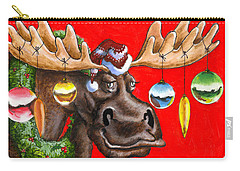 Merry Chris Moose Carry-all Pouch