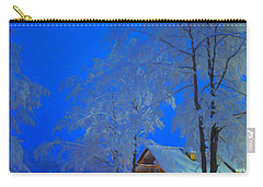 Merry Christmas Cabin Digital Art Carry-all Pouch