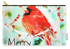 Merry Christmas Cardinal Carry-all Pouch