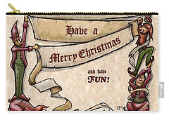 Merry Christmas Elves Carry-all Pouch