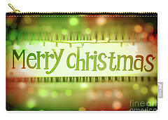 Merry Christmas Greeting Card Carry-all Pouch