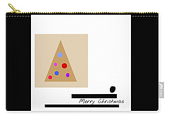 Carry-all Pouch featuring the mixed media Merry Christmas by Jessica Eli