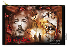 Carry-all Pouch featuring the digital art Merry Christmas by Kathy Tarochione