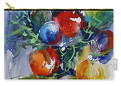 Carry-all Pouch featuring the painting Merry Christmas by Sandra Strohschein