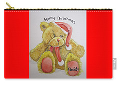 Merry Christmas Teddy  Carry-all Pouch