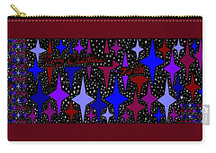 Merry Christmas To All, Starry, Starry Night Carry-all Pouch by Linda Velasquez
