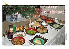 Merry Christmas- Traditional Lithuanian Christmas Eve Dinner Carry-all Pouch by Ausra Huntington nee Paulauskaite