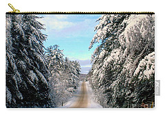 Carry-all Pouch featuring the photograph Merry Christmas,happy Holidays by Elfriede Fulda