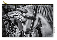Merry-go-round-horses Carry-all Pouch by Ken Morris