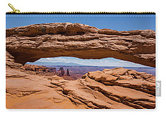 Carry-all Pouch featuring the photograph Mesa Arch Canyonlands by Brenda Jacobs