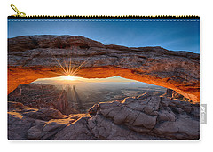 Sun Rays At Mesa Arch Utah Carry-all Pouch