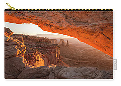 Mesa Arch Sunrise 5 - Canyonlands National Park - Moab Utah Carry-all Pouch by Brian Harig