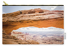 Mesa Arch Sunrise Carry-all Pouch by JR Photography