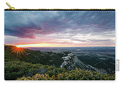 Carry-all Pouch featuring the photograph Mesa Verde Sunset by Margaret Pitcher