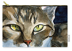 Mesmerizing Eyes - Tabby Cat Painting Carry-all Pouch