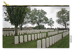 Carry-all Pouch featuring the photograph Messines Ridge British Cemetery by Travel Pics