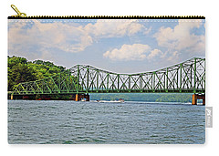 Metal Bridge Over A Lake Carry-all Pouch