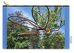Metal Dragonfly Against The Sky Carry-all Pouch