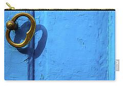 Metal Knob Blue Door Carry-all Pouch by Prakash Ghai