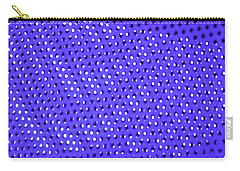 Carry-all Pouch featuring the photograph Metal Panel Blue Abstract by Tom Janca