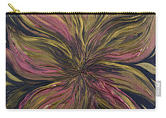 Metallic Flower Carry-all Pouch