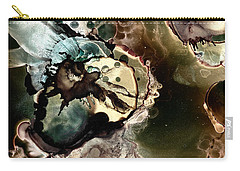 Carry-all Pouch featuring the painting Metallic Nebula by Patricia Lintner