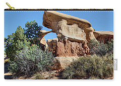 Carry-all Pouch featuring the photograph Metate Arch - Devils Garden by Nikolyn McDonald