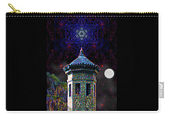 Carry-all Pouch featuring the digital art Metatron Nocturnal by Iowan Stone-Flowers