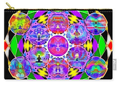 Carry-all Pouch featuring the digital art Metatron's Cosmic Ascension by Derek Gedney