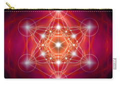 Carry-all Pouch featuring the digital art Metatron's Cube Female Energy by Alexa Szlavics
