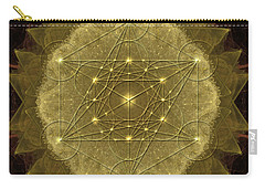 Carry-all Pouch featuring the digital art Metatron's Cube Geometric by Alexa Szlavics