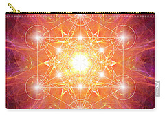 Carry-all Pouch featuring the digital art Metatron's Cube Shiny by Alexa Szlavics