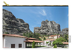 Meteora In Greece Carry-all Pouch by Arik Baltinester