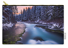 Carry-all Pouch featuring the photograph Metolius Sunset by Cat Connor