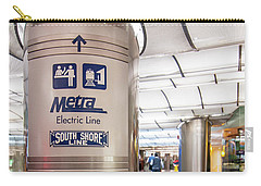Metra Electric Line Column Sign Carry-all Pouch