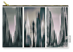 Metropolis Triptych II Carry-all Pouch by Jessica Jenney