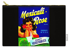 Mexicali Rose Vintage Vegetable Crate Label Carry-all Pouch by Peter Gumaer Ogden