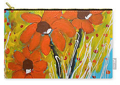 Mexican Sunflowers Flower Garden Carry-all Pouch